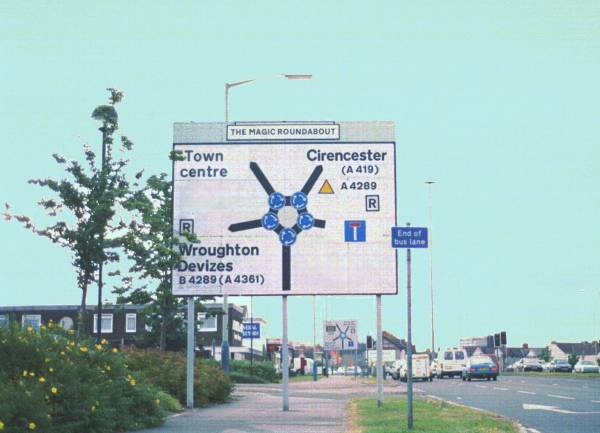 Magic Roundabout (sign)